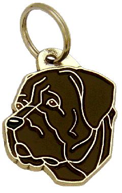 CANE CORSO BRINDLE - pet ID tag, dog ID tags, pet tags, personalized pet tags MjavHov - engraved pet tags online